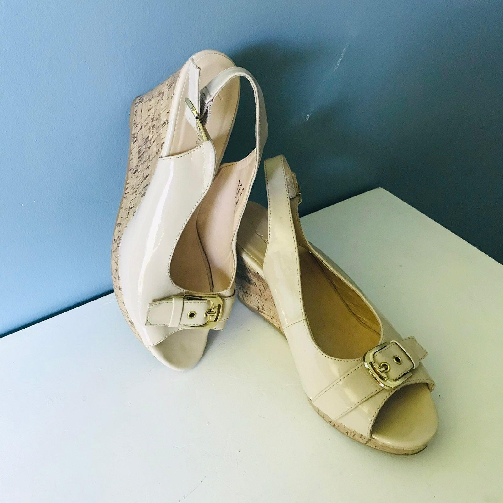 LANE BRYANT Sling back wedges Sandals 11