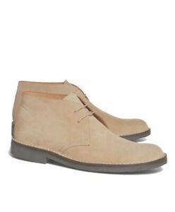 Brooks Brothers Peal & Co Beige Suede Bo