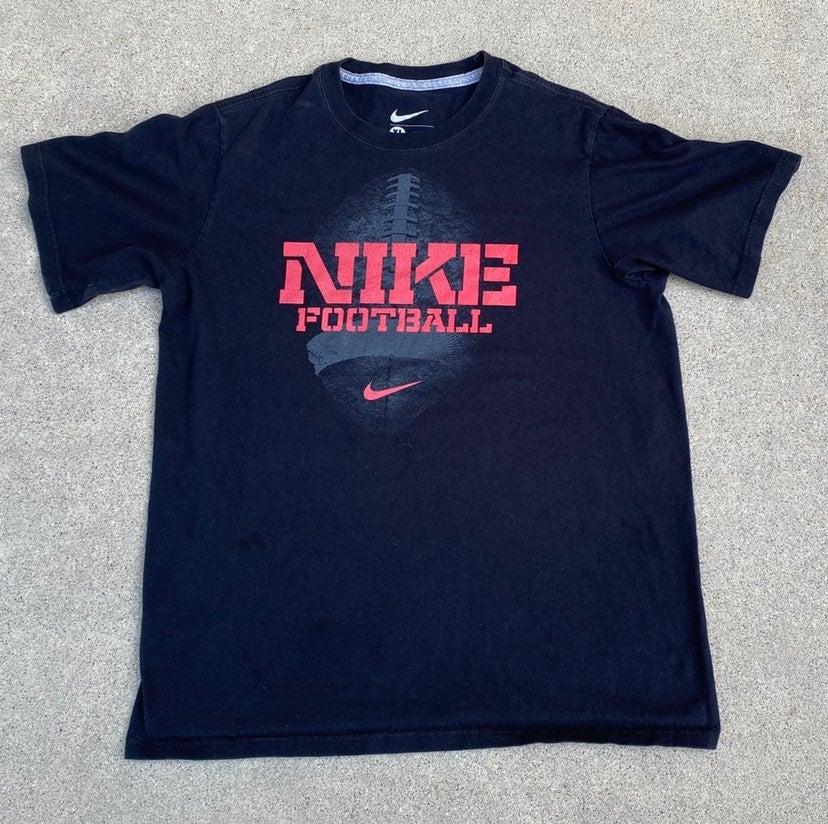 Nike Football Black Red T Shirt