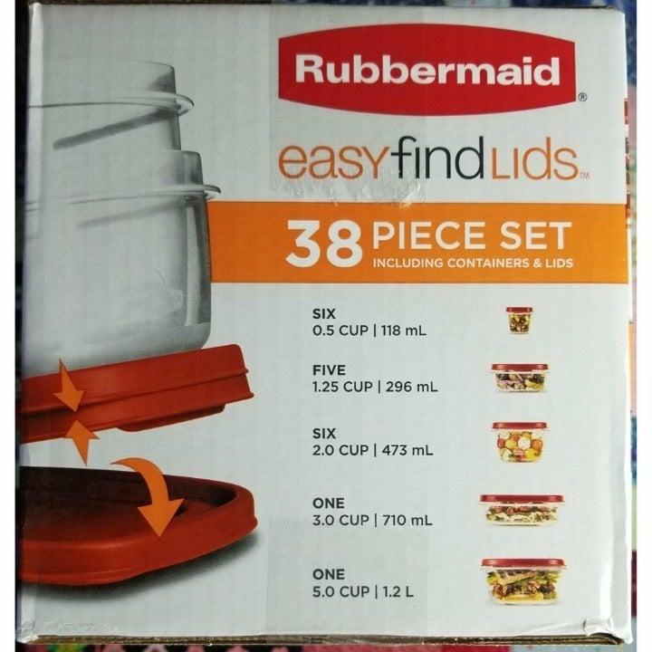 Rubbermaid easyfindlids set – new in box