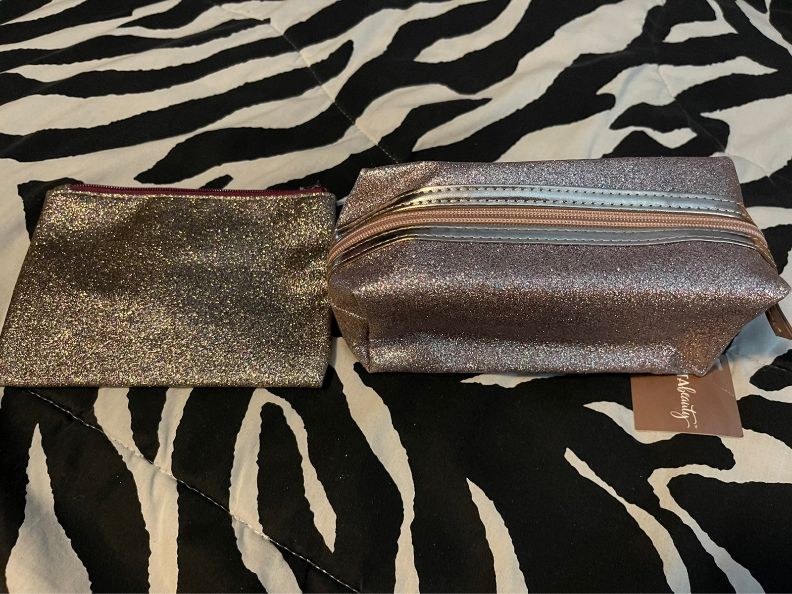 Ulta & B&BW glitter makeup bags