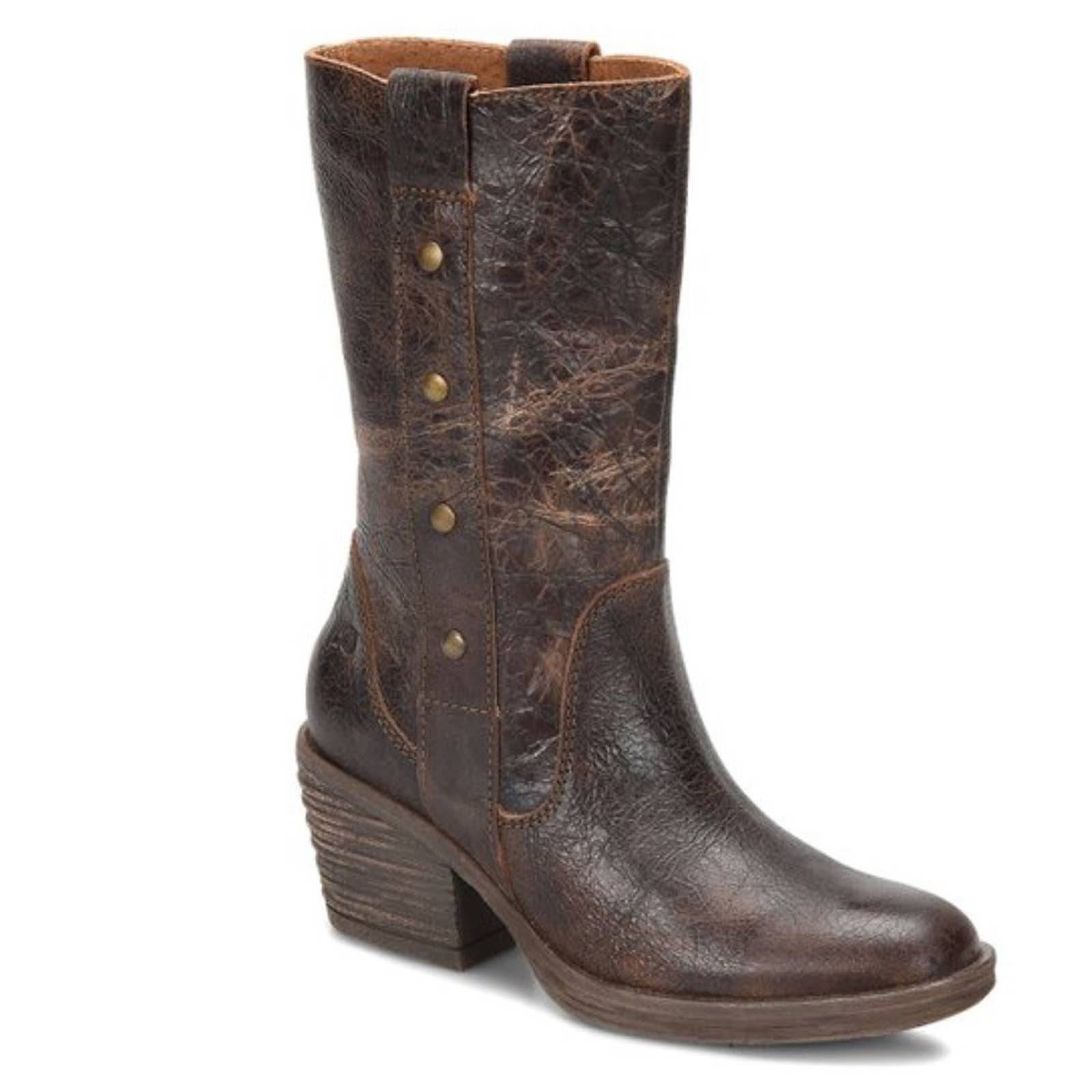 Born brown copper leather boots size 8