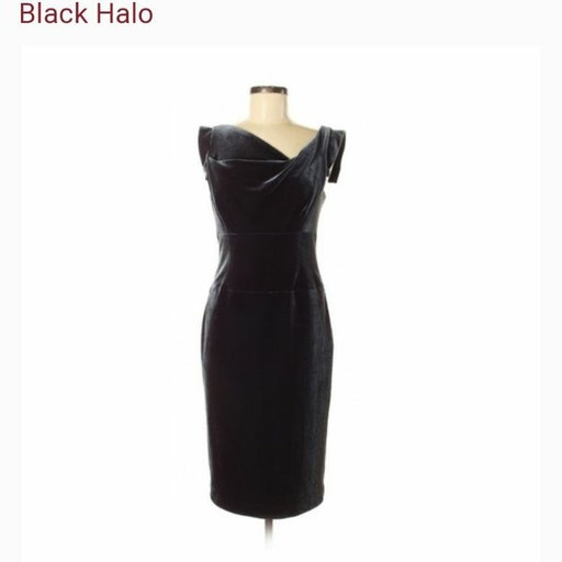 Black Halo Velvet Dress, size 8