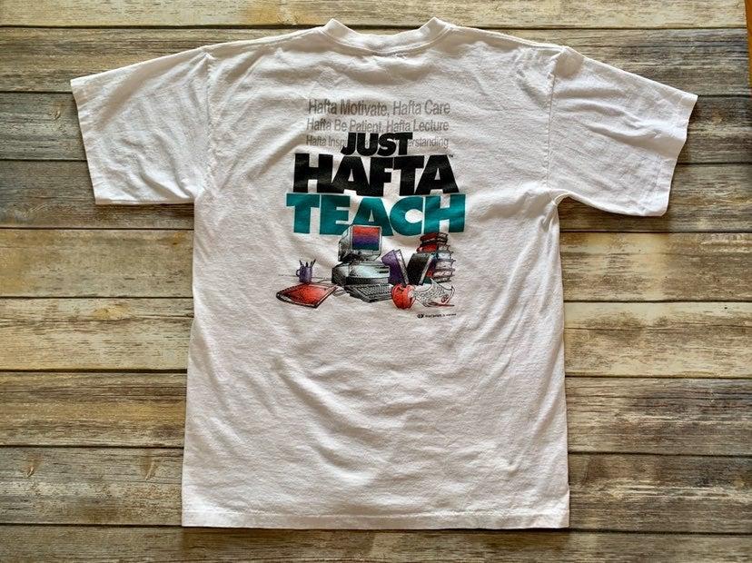 Vintage 90s Hafta Teach Coed Shirt XL