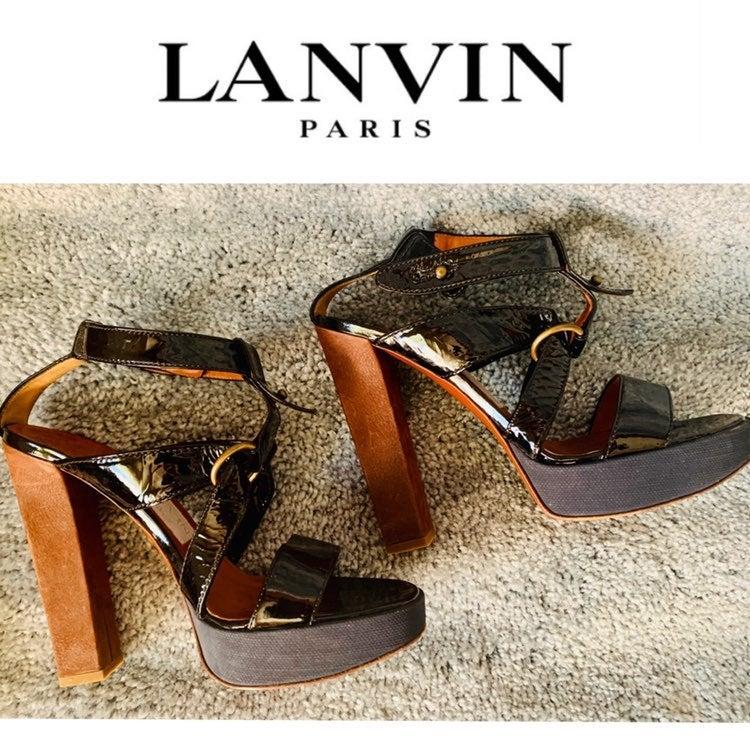 lanvin gladiator platform heels sandal