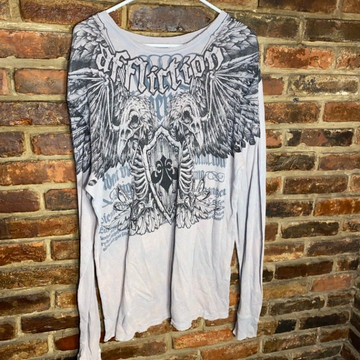 Affliction Men's Long Sleeve Thermal XL