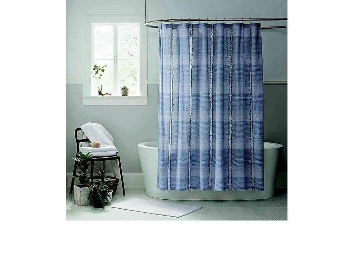 Ugg Aira 72″ Shower Curtain New Navy