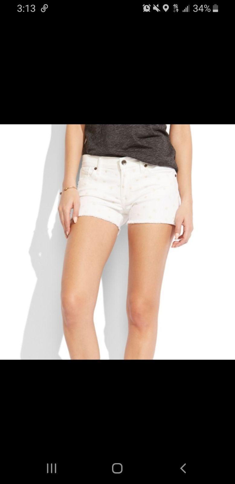 LUCKY BRAND Malibu white shorts  destres