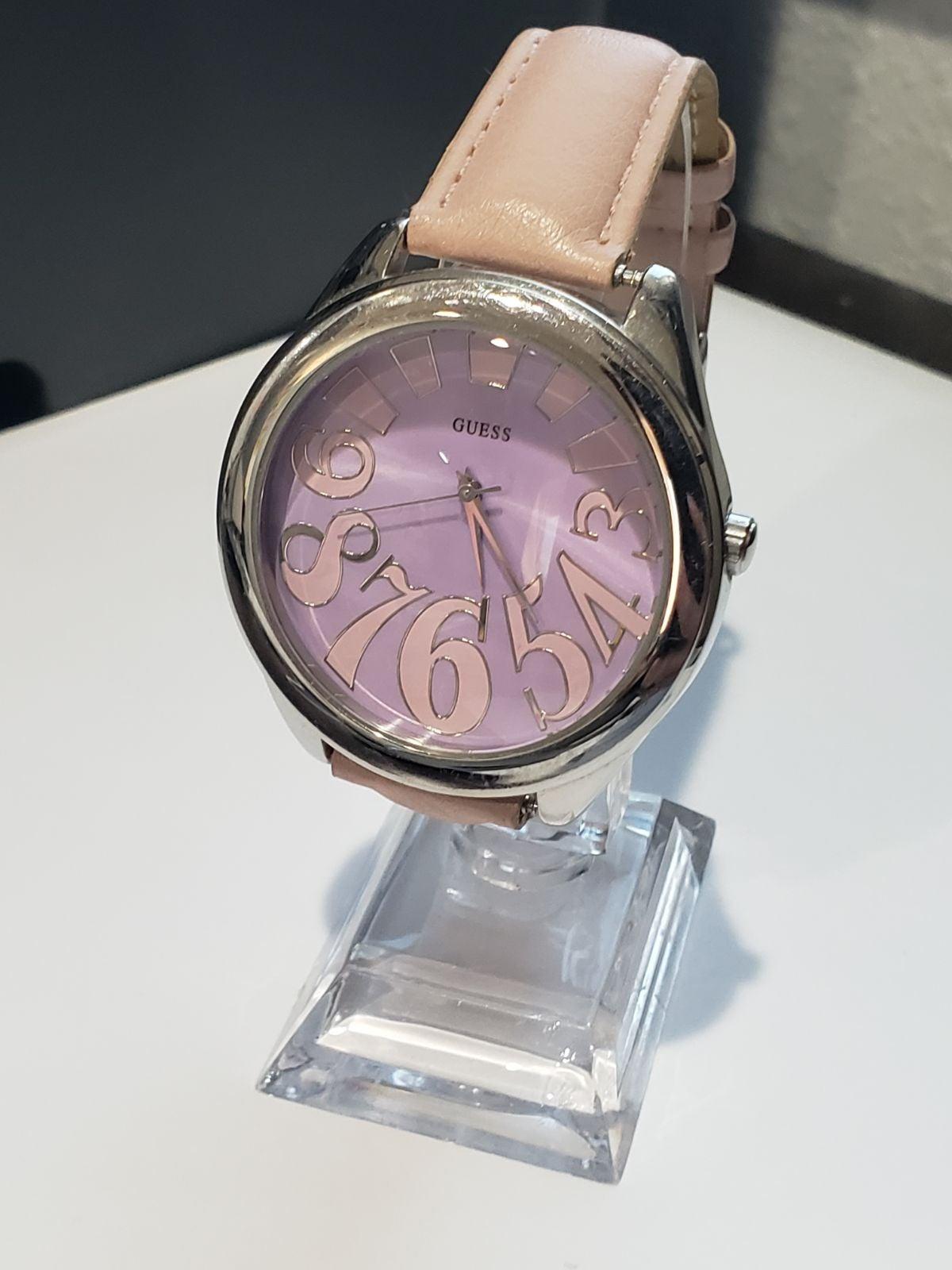 Guess quartz large face wristwatch