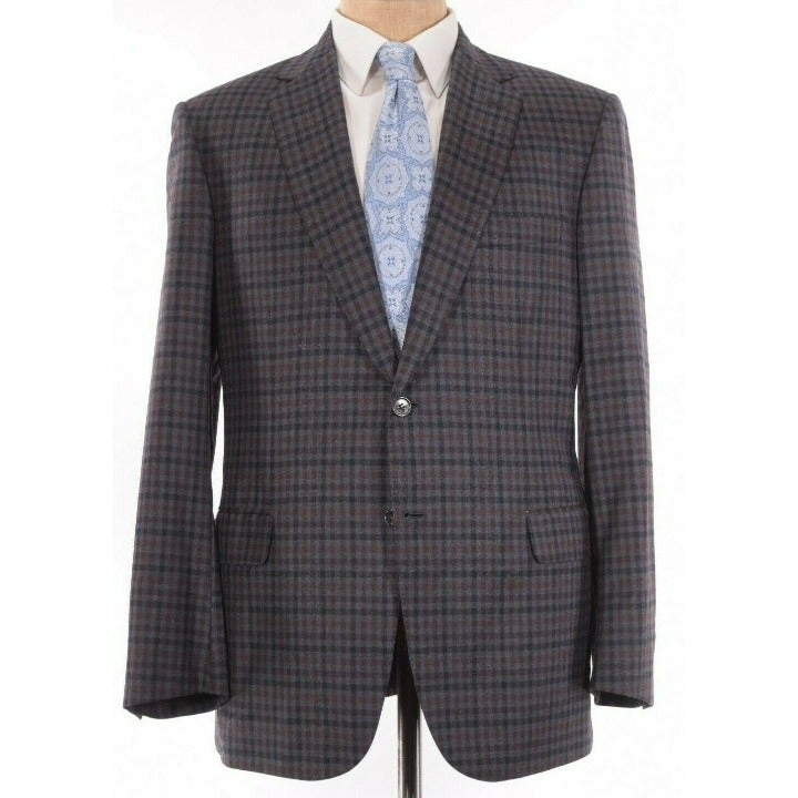 Brioni Sport Coat Size 42R In Gray Red O