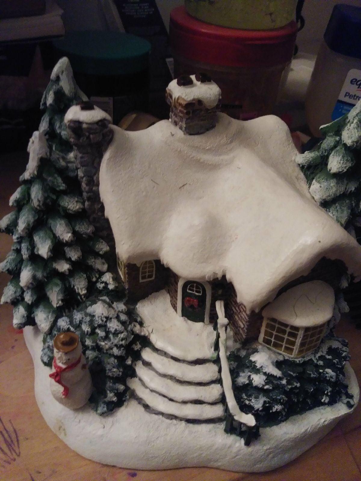 Miniature antique porcelain house