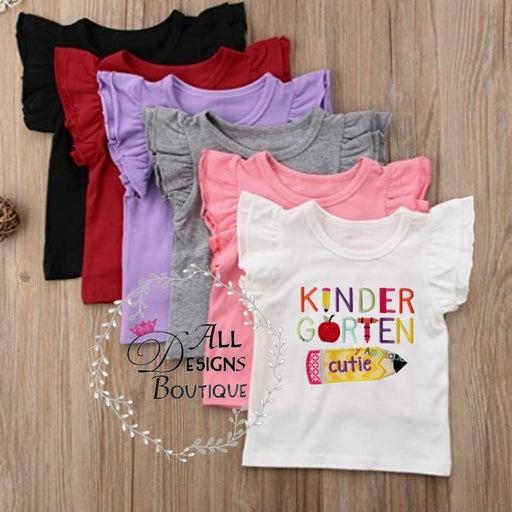 Kindergarten Girl Embroidery shirt