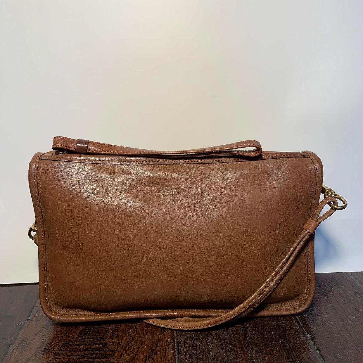 Vintage 80's Coach Leather Crossbody Bag