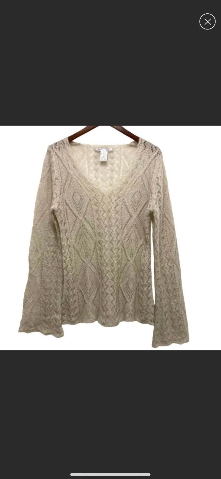 CAbi Lacy Sweater Style 702 Size M
