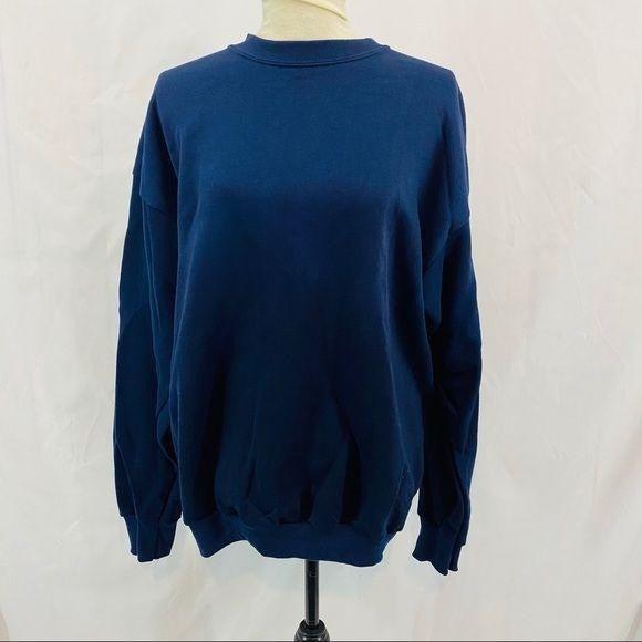 Vintage Tultex Sweatshirt Blue Dead Stock Sie Large