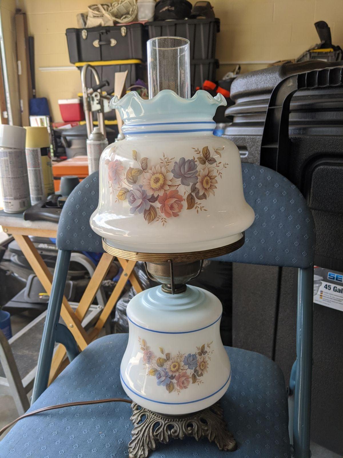 Vintage Hurricane Lamp