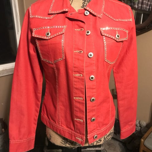 Coral Cruel Girl Jacket With Bling