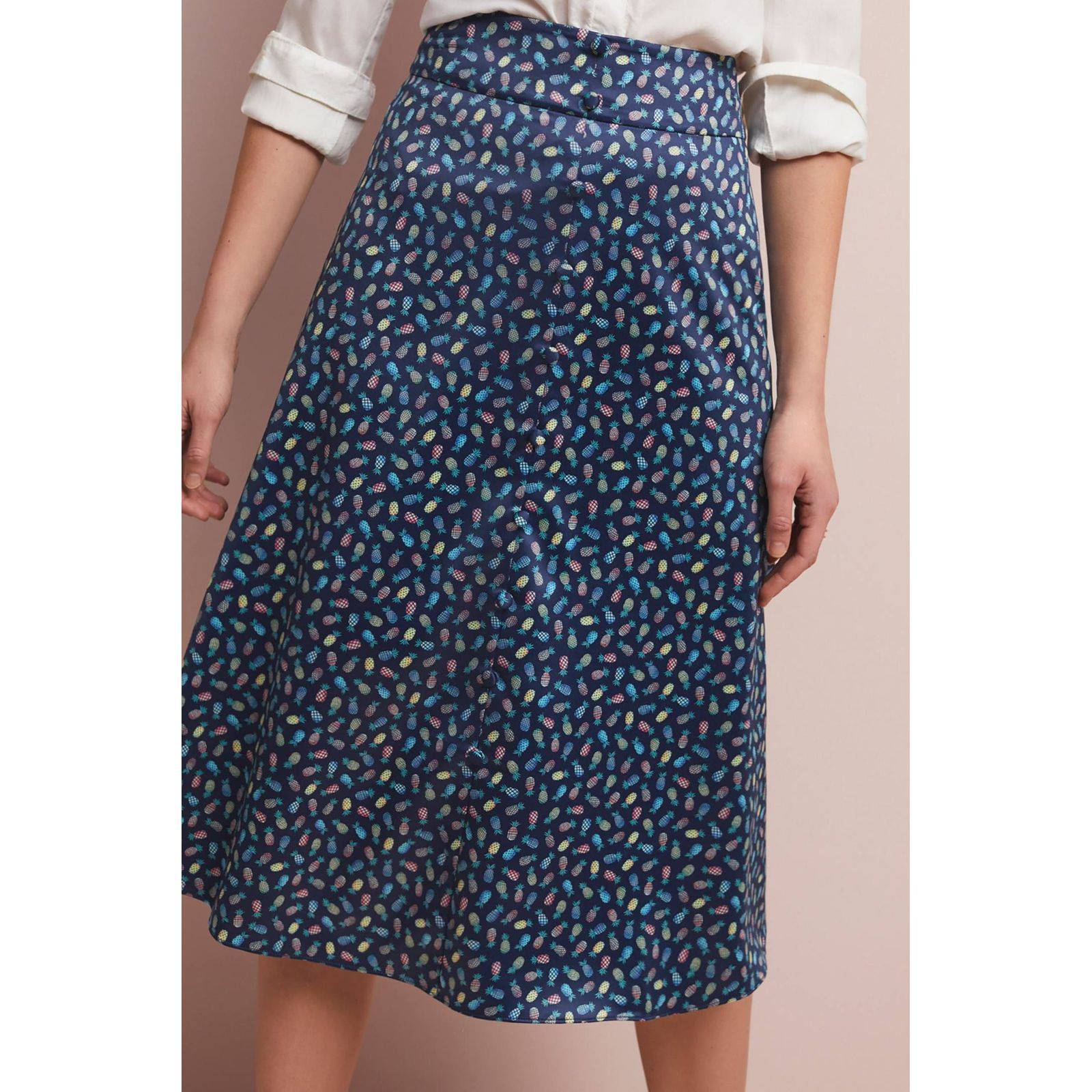 New Anthropologie Pineapple-Printed Midi
