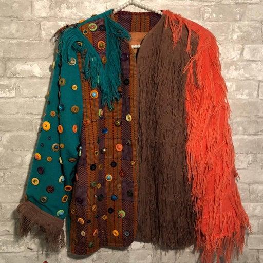 Vintage Fringe Boho Jacket RARE Medium