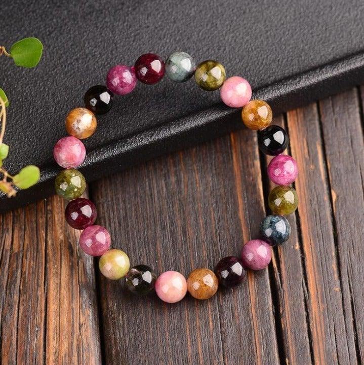 Unique Tourmaline Stone Bracelet for Women +Gift Pouch