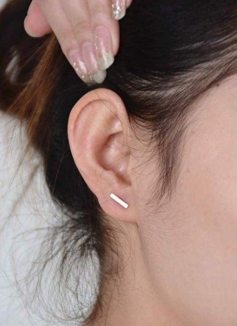 Bar Earrings (Gold)