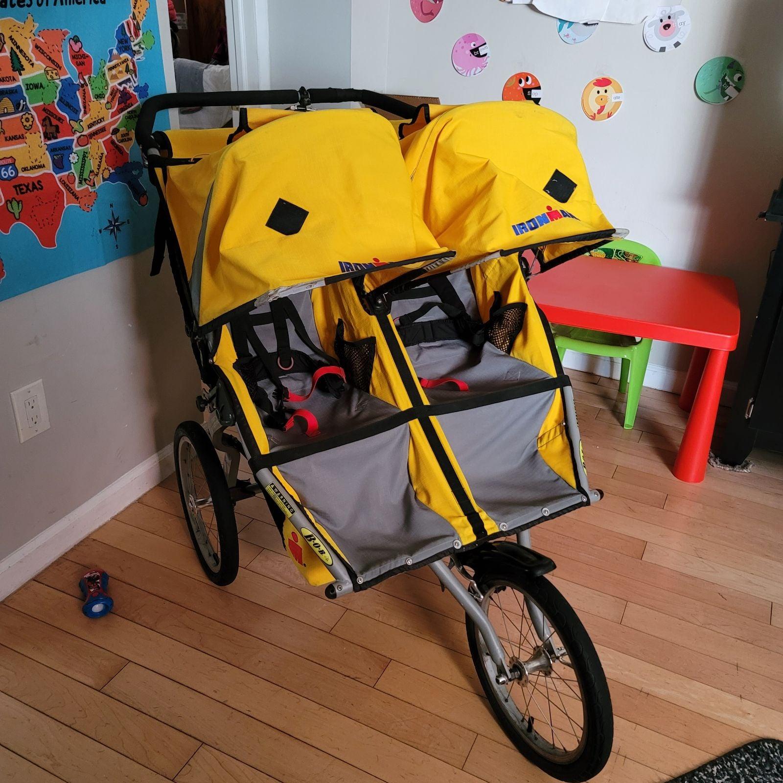 Bob Iron man double stroller