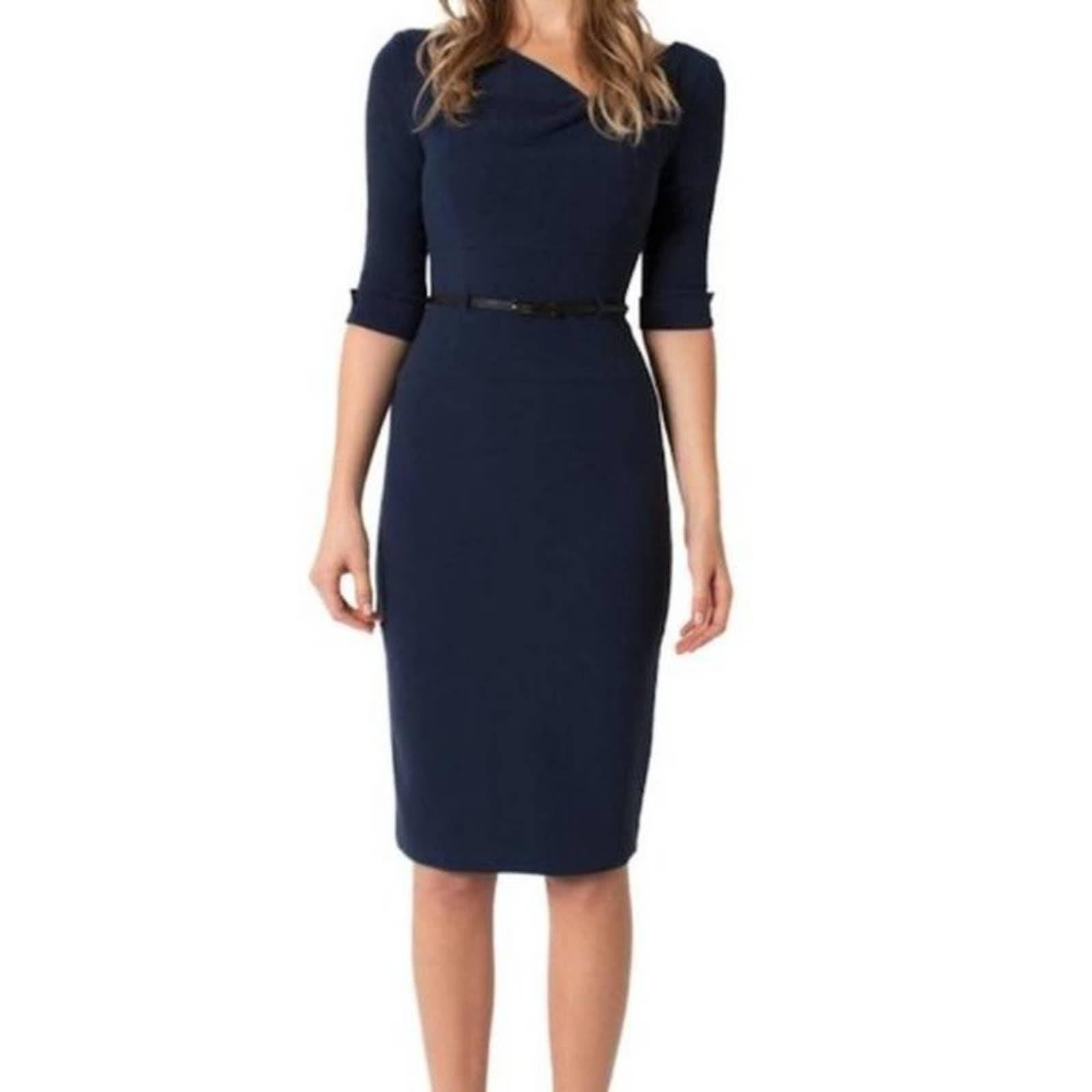 Black Halo Jackie O 3/4  Sleeve Dress 0