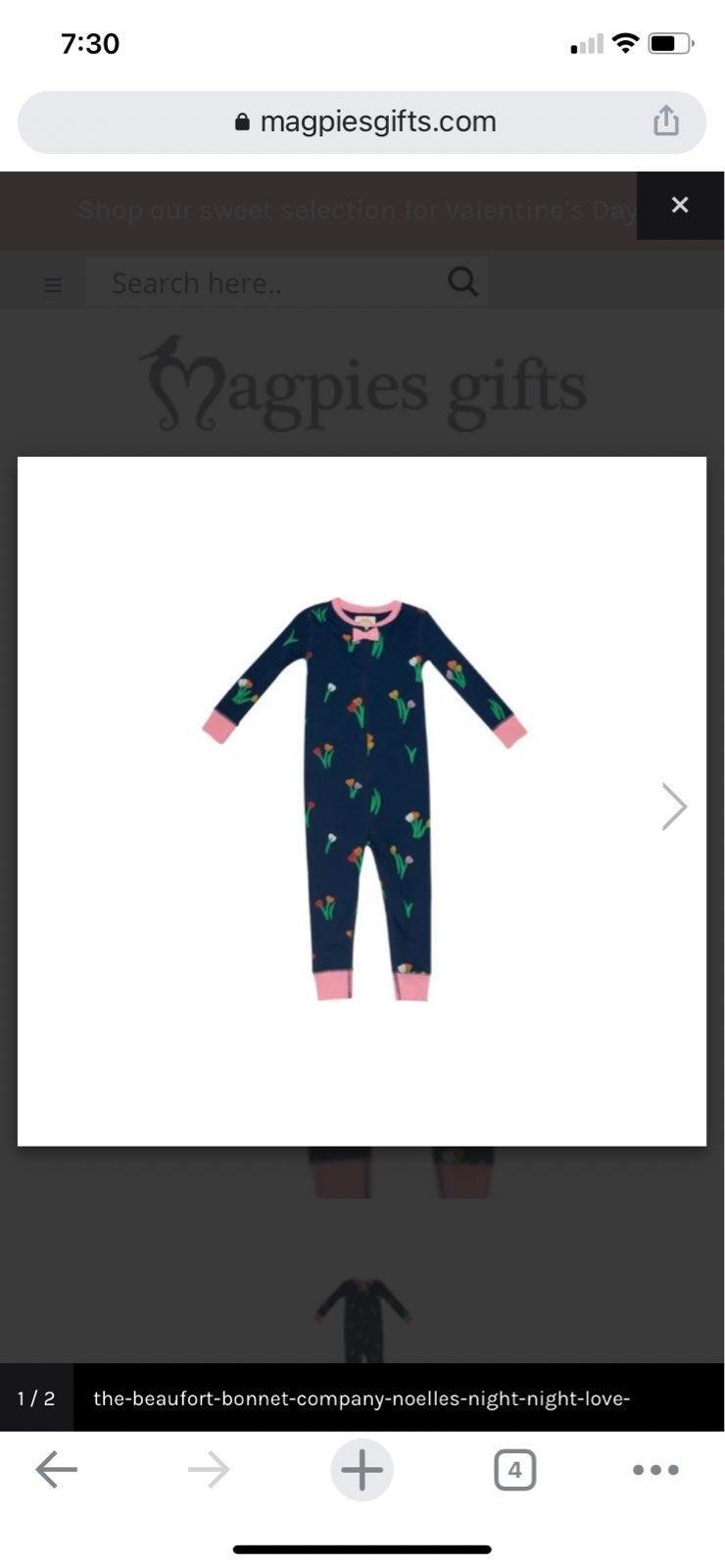 Beaufort bonnet navy floral pajamas 4