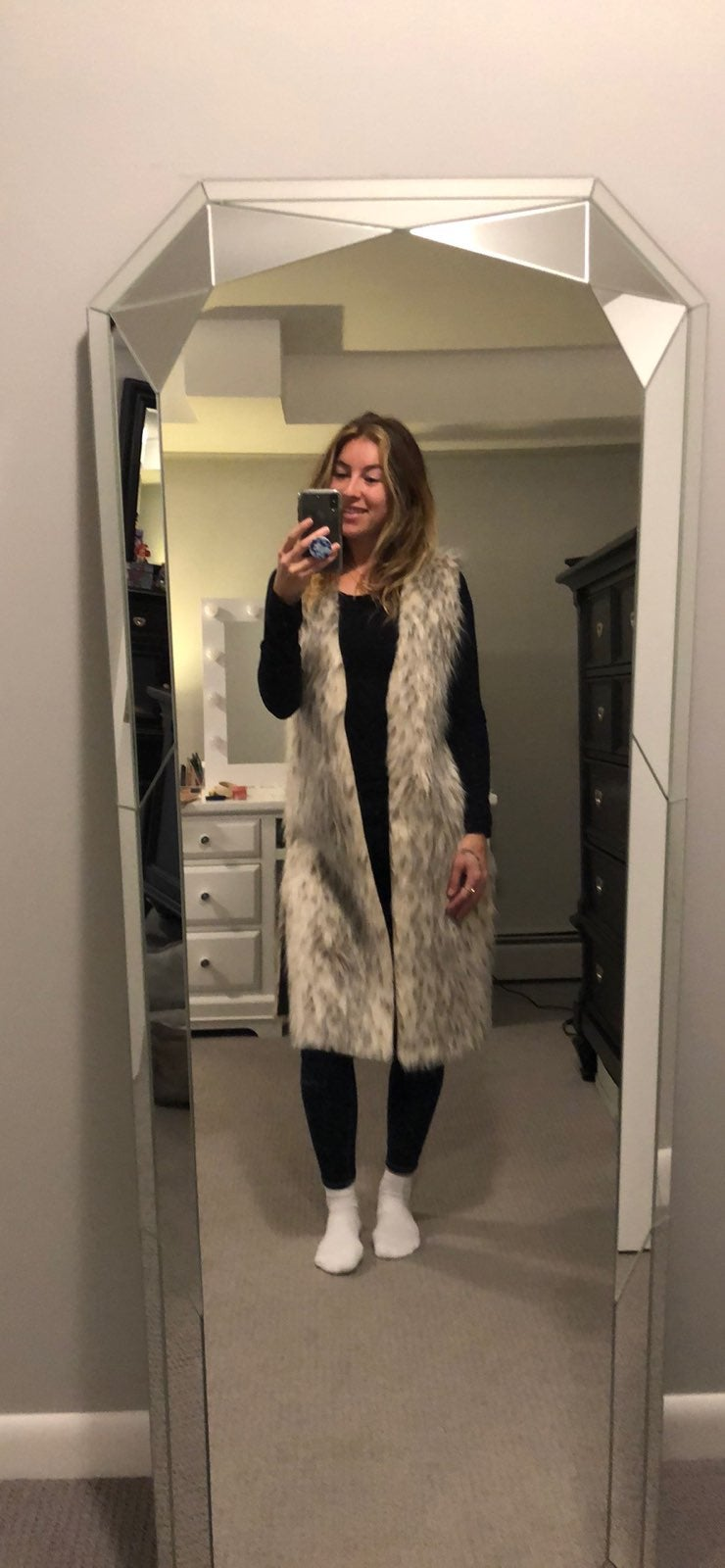 C&c California Faux Fur Vest Medium
