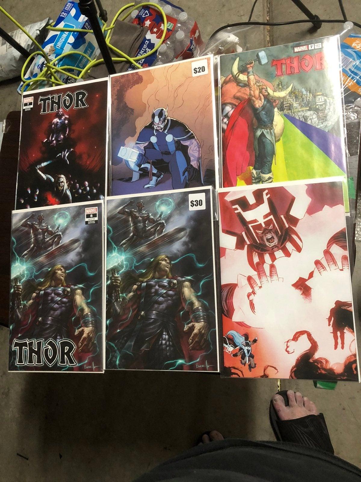 Lot of 6 Donny Cates Thor comics