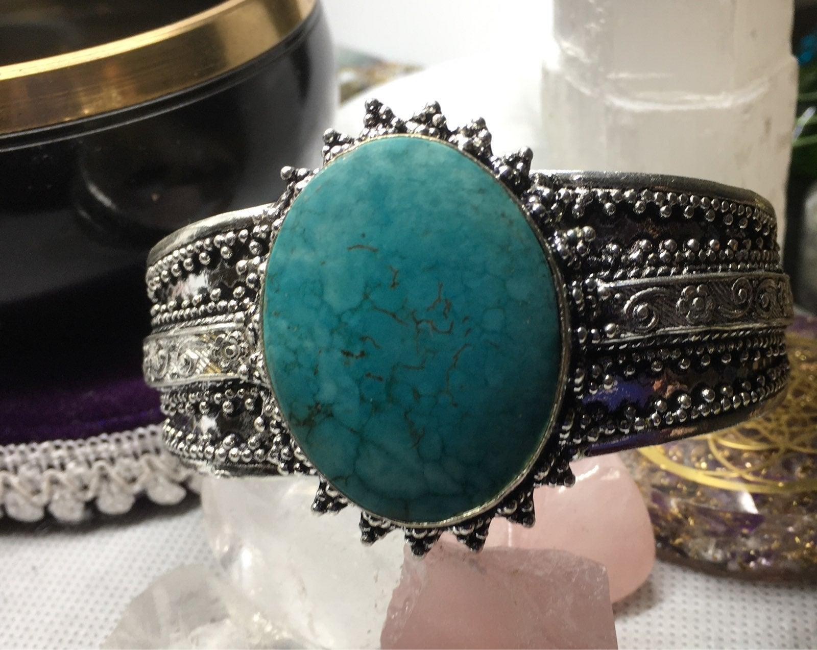 santa rosa turquoise cuff bracelet silve