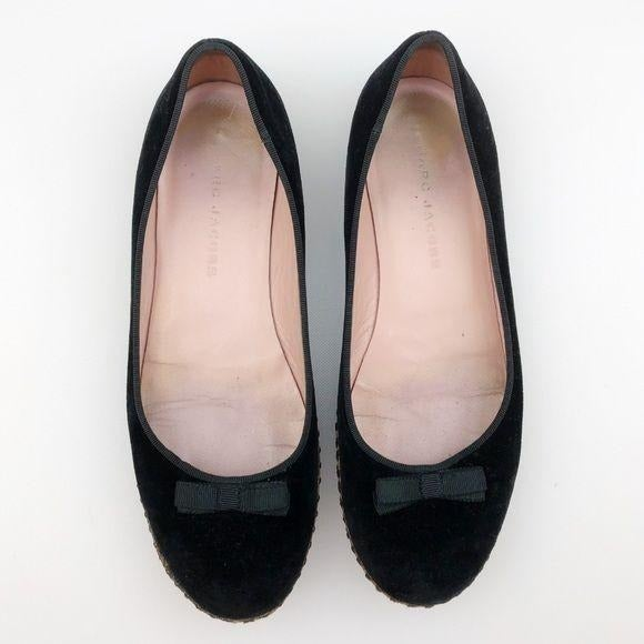 Marc Jacobs Velvet Flats black bows