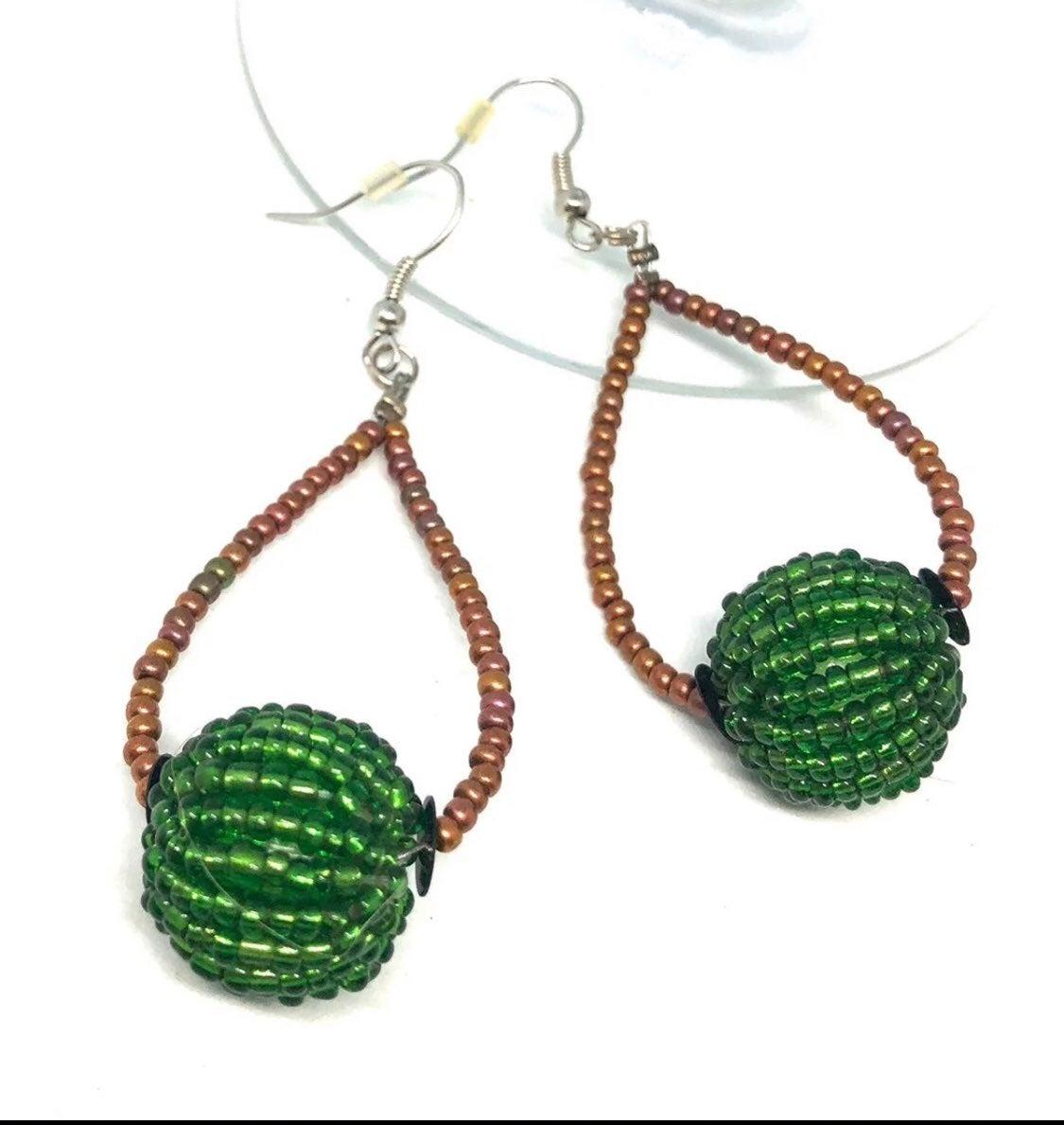 Green Earrings - new