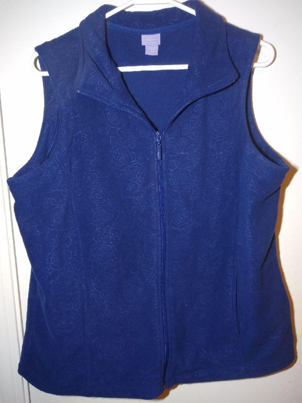 Women's Laura Scott XL Navy blue Vest