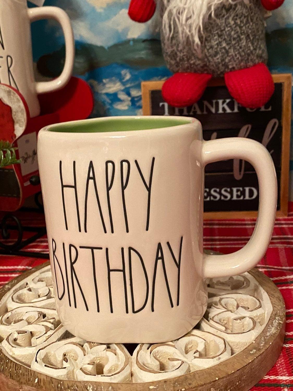 Rae Dunn HAPPY BIRTHDAY Mug