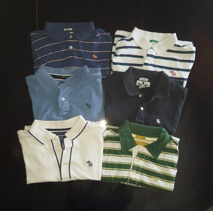 Lot of 6 Vintage Abercrombie Fitch Polos
