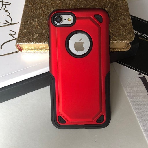 NEW iPhone 7 8 Red Hybrid Armor Case