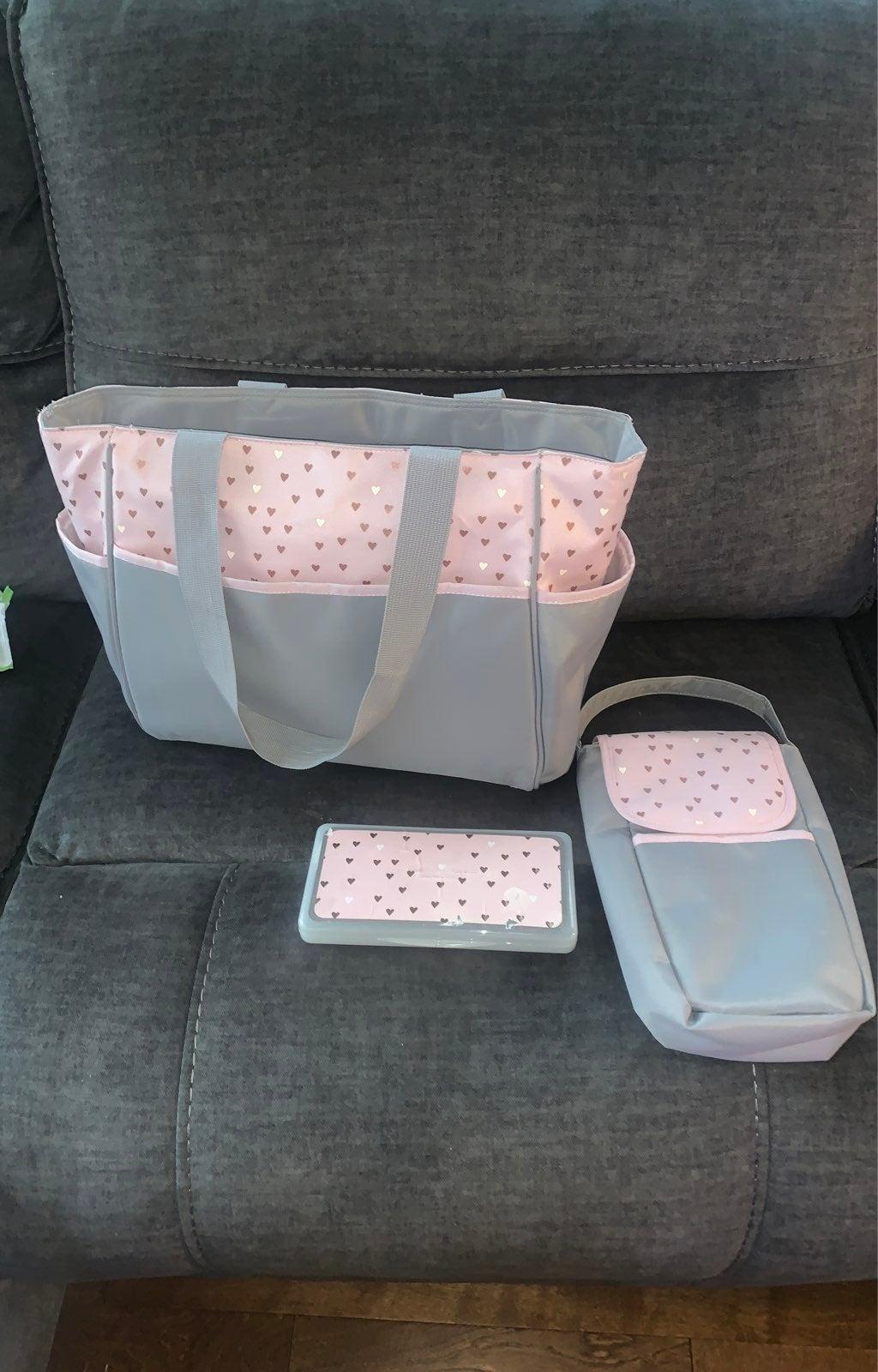 3 piece baby bag & wipe warmer