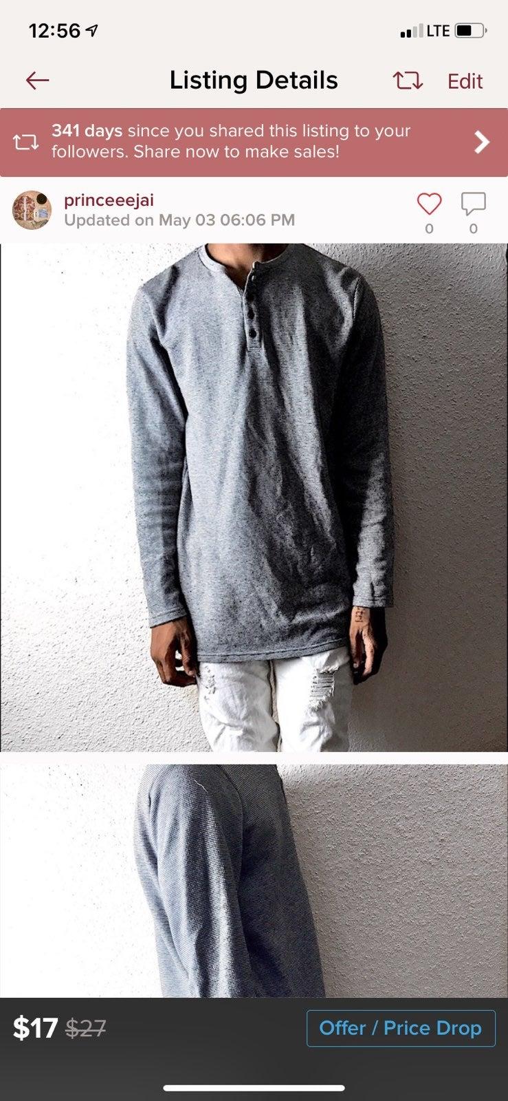 Pacsun ling tee sweatshirt