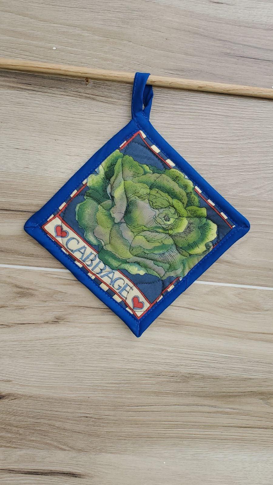 Handmade pot holder cabbage