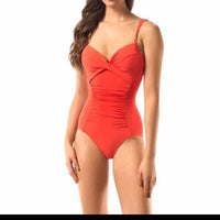 c676242957d Robin Piccone Red one piece Bathing Suit