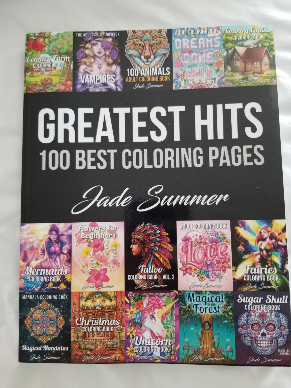Jade Summer Greatest Hits Coloring Book