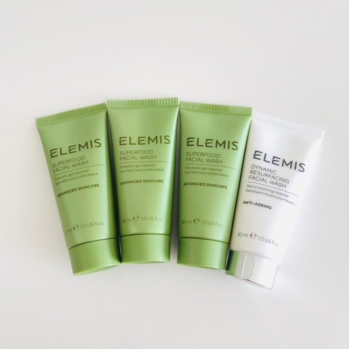 4× Elemis facial wash