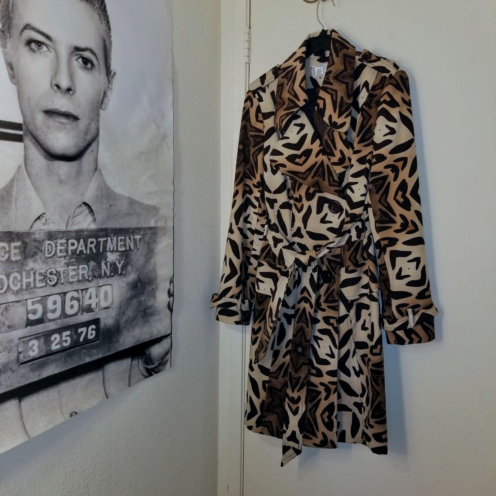 Leopard/Cheetah/Tiger Print Trench Coat