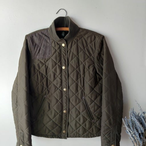 Ralph Lauren moss green quilted jacket