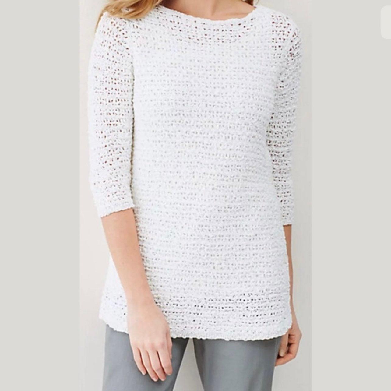J. Jill Open Stitch Side Buttons Sweater