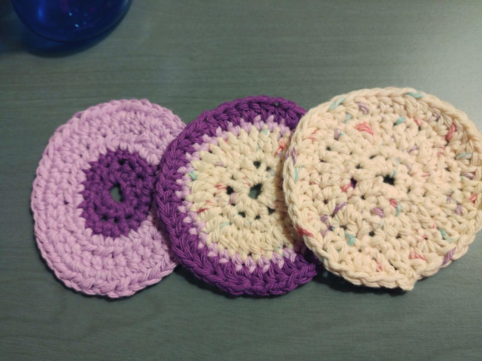 Crochet Lavender Scrubbies
