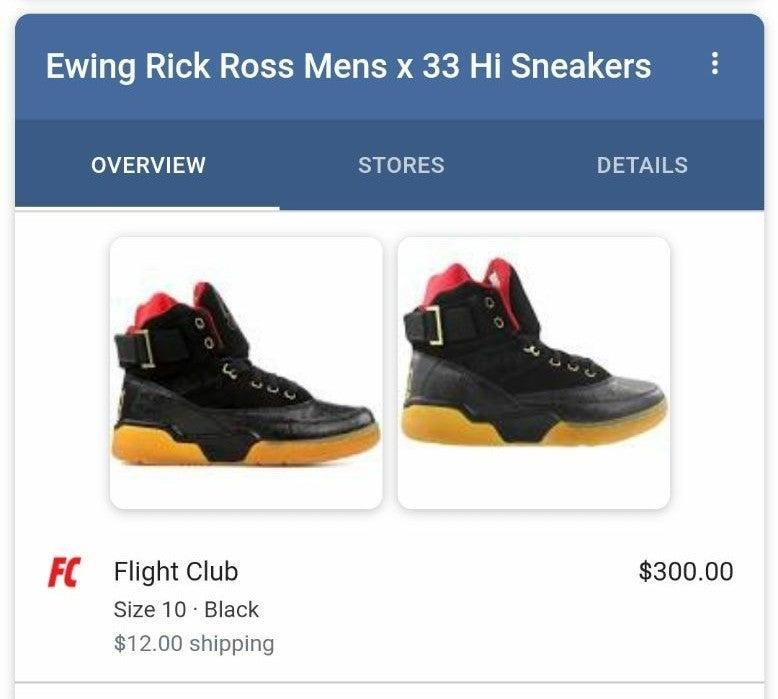 Patrick Ewing Rick Ross Men's X 33 Sneak