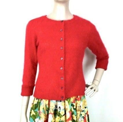 Vintage Apostrophe Women's Red Angora Ra