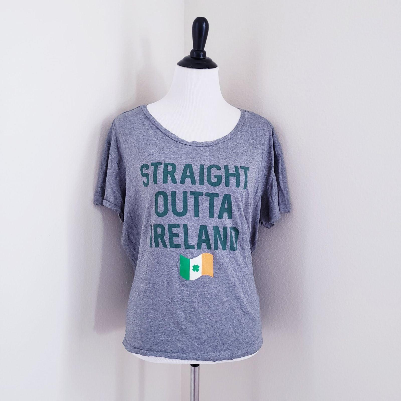 Grey Irish humor tshirt Ireland st patri